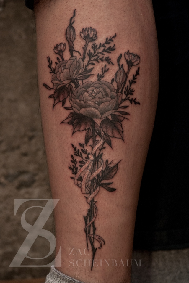 Zac Scheinbaum - Saved Tattoo-dried bouquet-Full-2012 - 2012 - 1